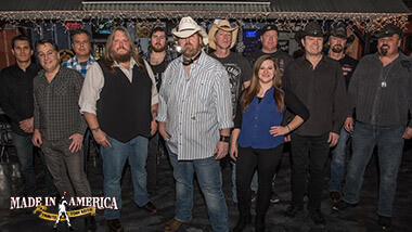 Members of the band Made in America, which performs a tribute concert to country singer Toby Keith.