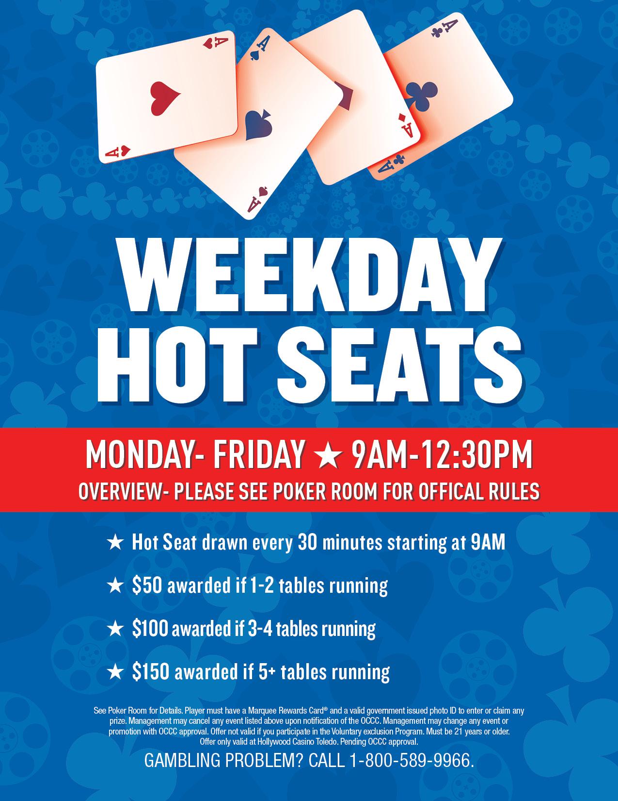 Hollywood casino toledo poker room tournament schedule 2018