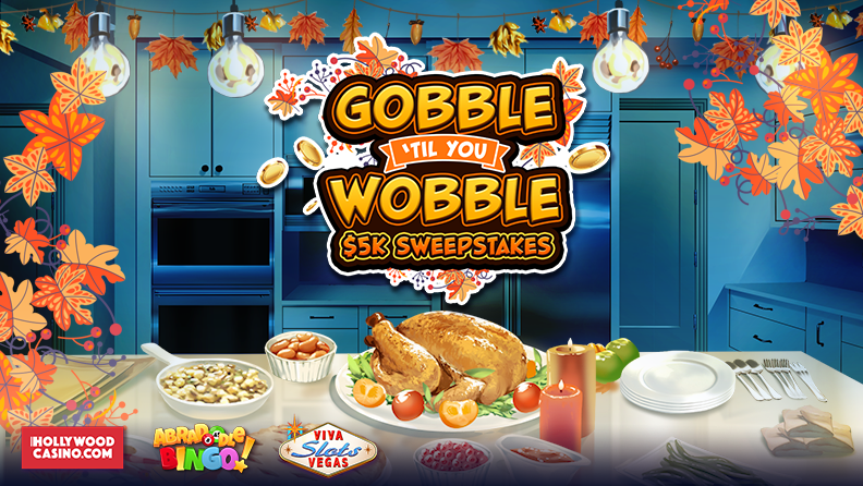 "igaming November 2019 Promotion image says ""Gobble"